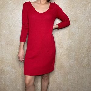 Express | Red Sweater Dress